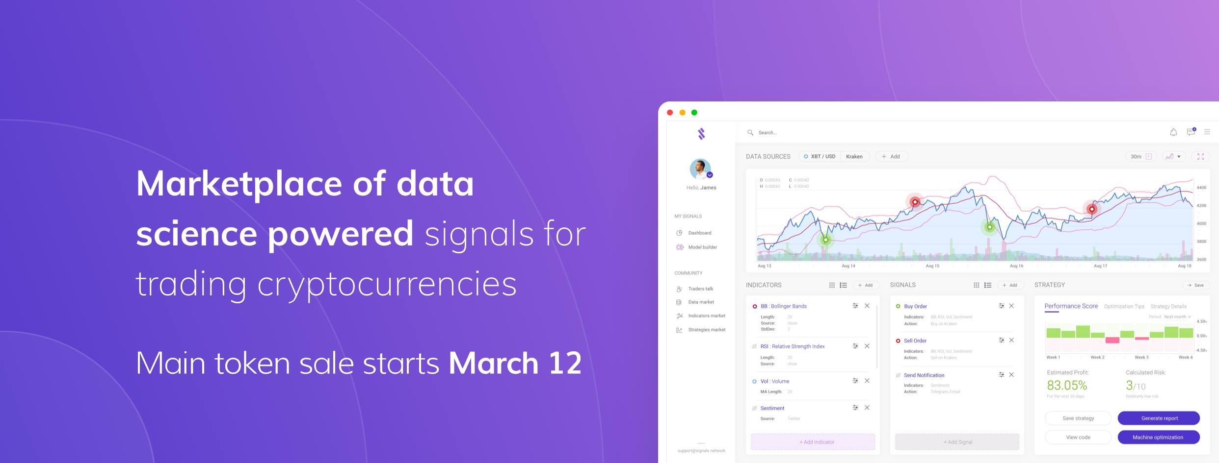 Signals ($SGN Token) AIRDROP - algorithmic crypto trading